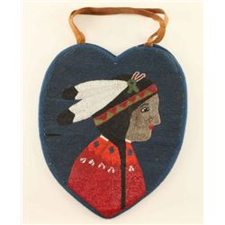 Nez Perce Leather Heart Shaped Bag