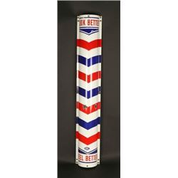 Porcelain Barber Pole/Sign