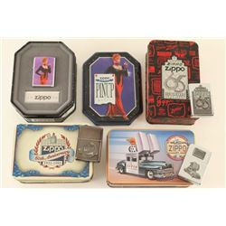 Lot of 4 Collectable Zippo Lighters