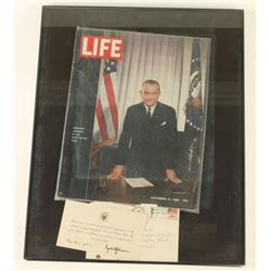 Framed Life Magazine of Lyndon B Johnson