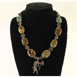 Sterling & Turquoise Kokopelli Necklace