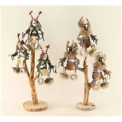 Lot of 2 Tree Kachinas