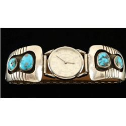 Vintage Turquoise & Silver Shadowbox Watch Tips
