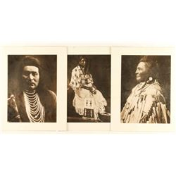 Collection of 3 Repro Curtis B&W Photos