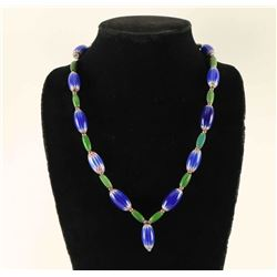 Native American Chevron Trade Bead Necklace