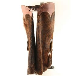 Pair of Child's Cowhide Chaps