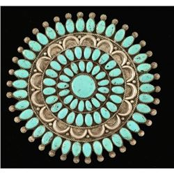 Navajo Turquoise Cluster Brooch/Pendant