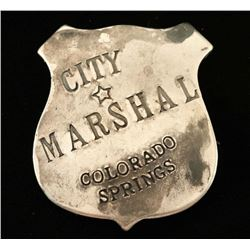 City Marshal Colorado Springs Badge