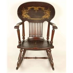 Spindle Back Antique Rocking Chair
