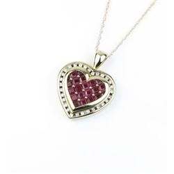 Gorgeous 'KEEPSAKE' Heart Shaped Ruby & Diamond