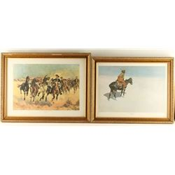 Lot of 4 Frederic Remington Prints