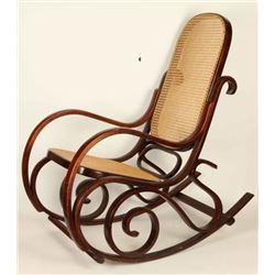 Caned Bentwood Rocking Chair