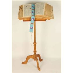 Antique Bookstand with Dictionary