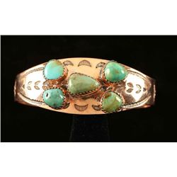 Five Stone Turquoise Copper Cuff