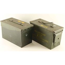 Lot of 2 Empty Ammo Cans