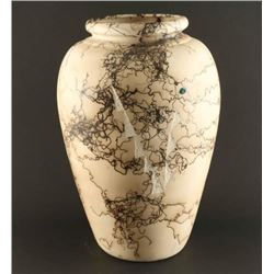 Horsehair Vase with Turquoise Inlay