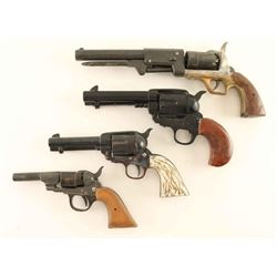 Lot of 4 Wood Carved Pistols