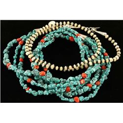 Lot of 2 Navajo Beaded Necklaces