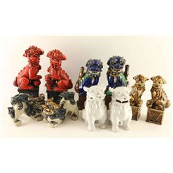 Lot of 10 Chinese Ceramic Foo Dogs