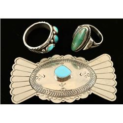 Turquoise & Sterling Native American Jewelry Lot