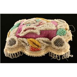 Antique Iroquois Beaded Whimsy Pillow
