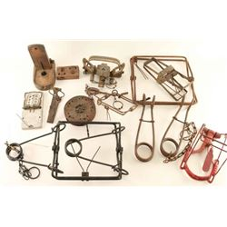 Large Lot of Vintage Animal Traps