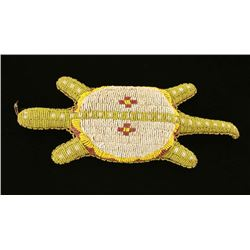 Shoshone Indian Leather Beaded Turtle Fetish