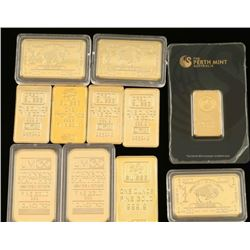 (11) Replica & Gold Clad Bars