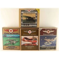 Lot of 4 Wings of Texaco Die Cast Metal Airplanes