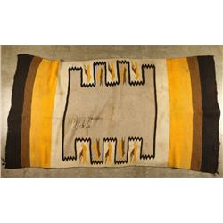 Saddle Blanket with Bird Design