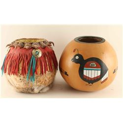 Two Gourd Pots