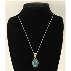 Sterling Silver & Turquoise Pendant