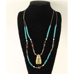 Double Strand Turquoise Beaded Necklace