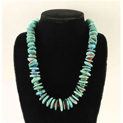 Turquoise, Coral & Lapis Necklace