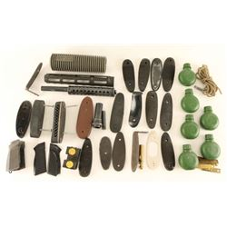 Boxed Lot of Gun Parts & Accessories