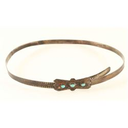 Navajo Turquoise Sterling Silver Hatband