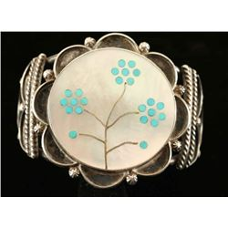 Mother of Pearl & Sterling Silver Cuff