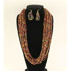 Thirty Strand Necklace & Earrings