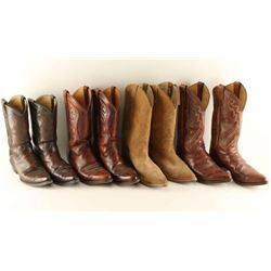 Four Pairs of Cowboy Boots