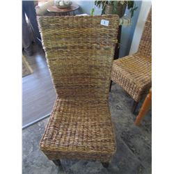 6 wicker dining chairs
