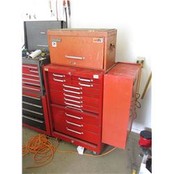 INTERNATIONAL TOOL CHEST, 2PC, WITH CONTENTS