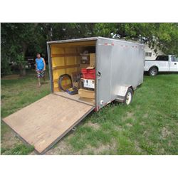 12X6 ENCLOSED CARGO TRAILER, INSULATED, HEATER, ELCTRIC, RAMP DOOR