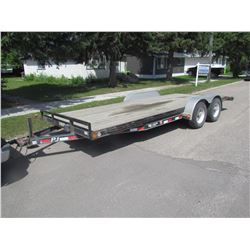 20' CART HAULER TRAILER W/RAMPS, LIKE NEW