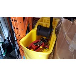 RUBBERMAID MOP BUCKET AND 2 TON JACK