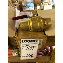 "NEW Legend 101-046 1 1/4"" Brass Ball Valve With Copper Solder Ends (CXC)"