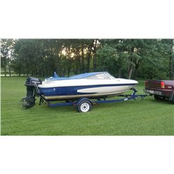 ABSOLUTE AUCTION !!17 ft Gastron Boat w Eagle Trailer