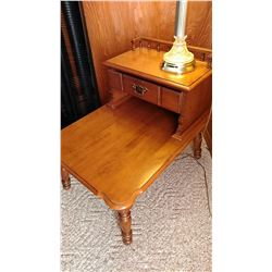 Young Republic Maple Lamp & Reading Table