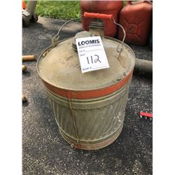 Antique Gasoline Can w/ Gasoline