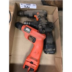 3 Black and Decker Battery Operated