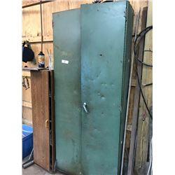 Large Metal Cabinet and Contents